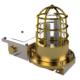 TEF 2430 Luminaire: Clear Globe, 2x7W Tube G23, 230VAC 50/60Hz, IP66/67 IECEx, Brass/Polyc
