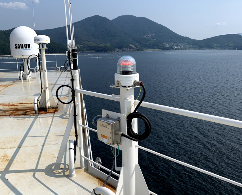 TRANBERG® Status light active aboard Altera Wave