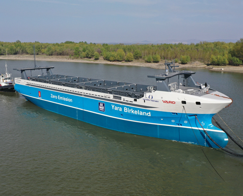R. STAHL TRANBERG Plays Crucial Role in World's First Autonomous Ship